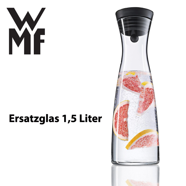 wmf wasserkaraffe ersatzglas karaffe 1 5 l wasser wasserkaraffenersatzglas basic ebay. Black Bedroom Furniture Sets. Home Design Ideas